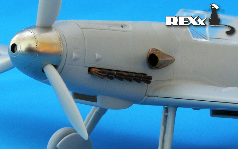 REXX metal exhaust pipes for 1/48 Messerschmitt Bf-109G/K