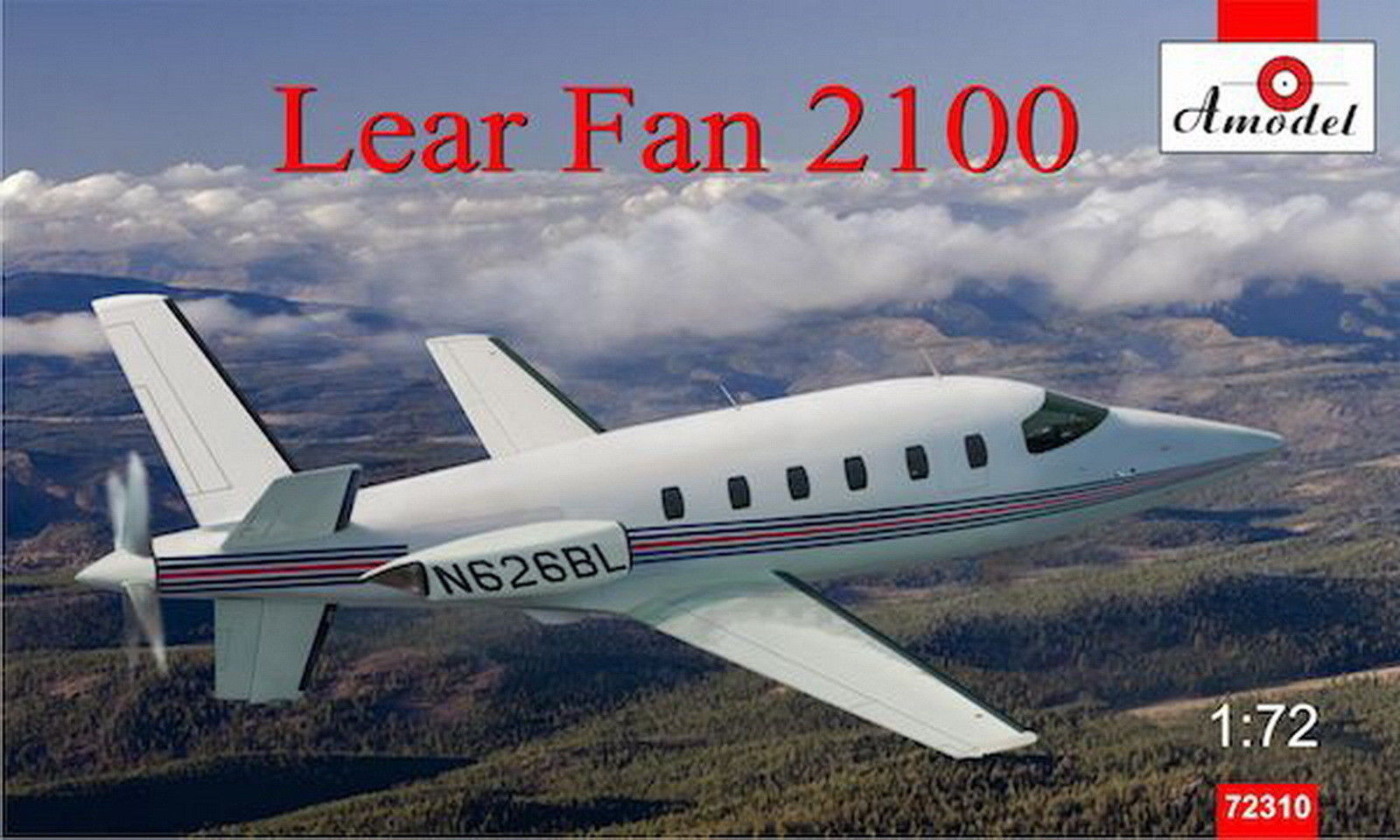 Amodel 1/72 LearAvia Lear Fan 2100 turboprop aircraft prototype