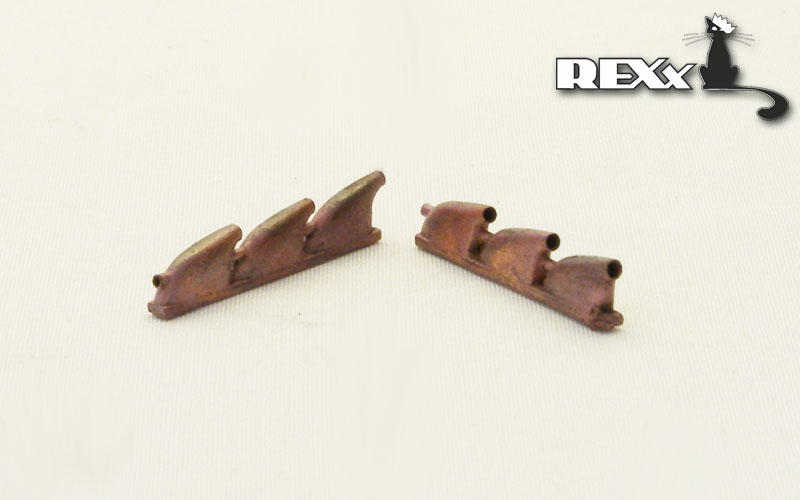 REXX metal exhaust pipes for 1/48 Dewoitine D.520