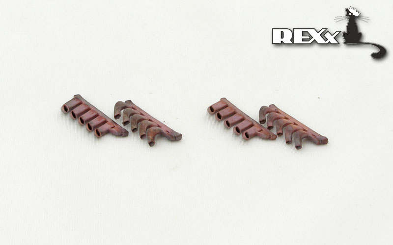 REXX metal exhaust pipes for 1/48 Mosquito B.IV