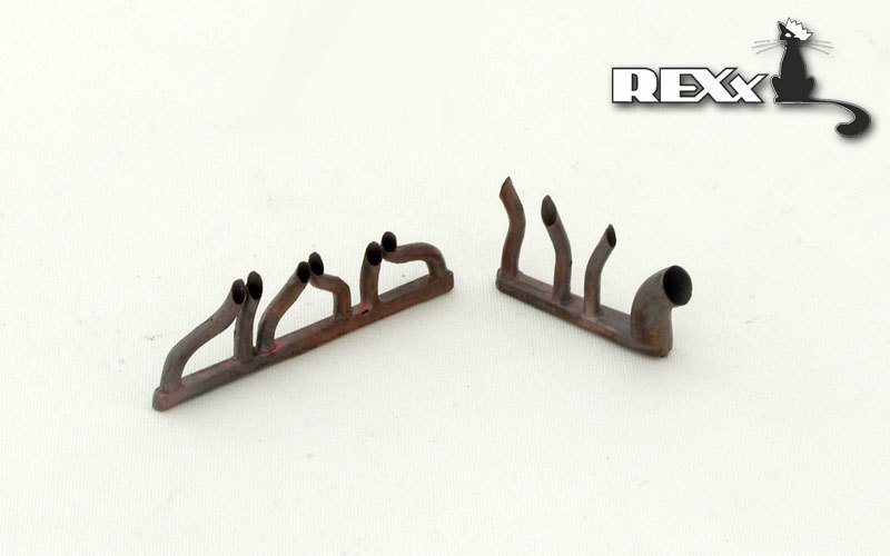 REXX metal exhaust pipes for 1/48 Polikarpov I-16 type 17/24/29