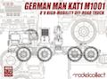 Modelcollect 1/72 German MAN KAT1M1001 8*8 HIGH-Mobility off-road truck