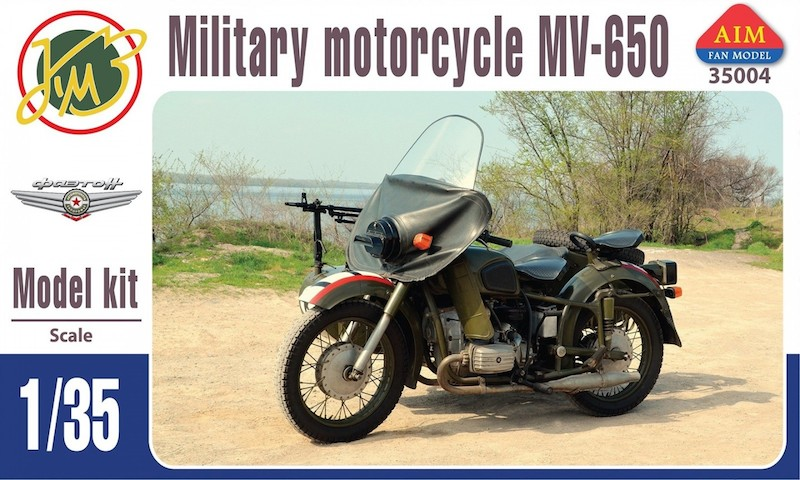 AIM 1/35 MV-650, Soviet postwar motorcycle with sidecar
