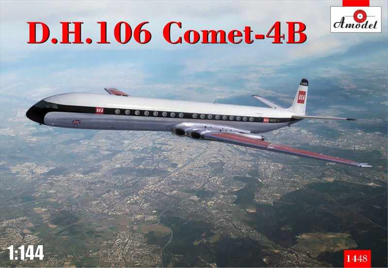 Amodel 1/144 De Havilland D.H. Comet 4B, commercial jetliner