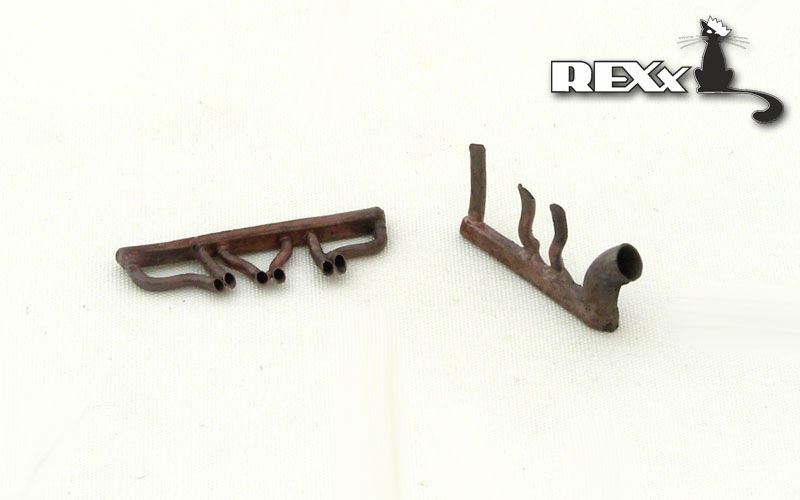 REXX metal exhaust pipes for 1/72 Polikarpov I-16 type 17/24/29
