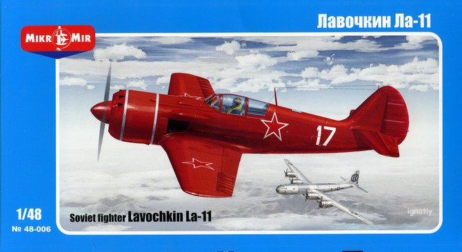 MikroMir 1/48 Lavochkin La-11 Fang, post-war Soviet fighter