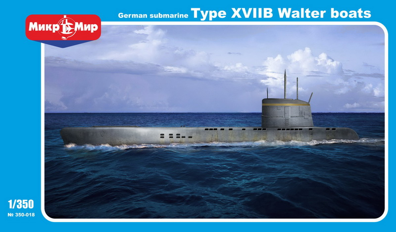 MikroMir 1/350 Type XVIIB, German coastal submarine