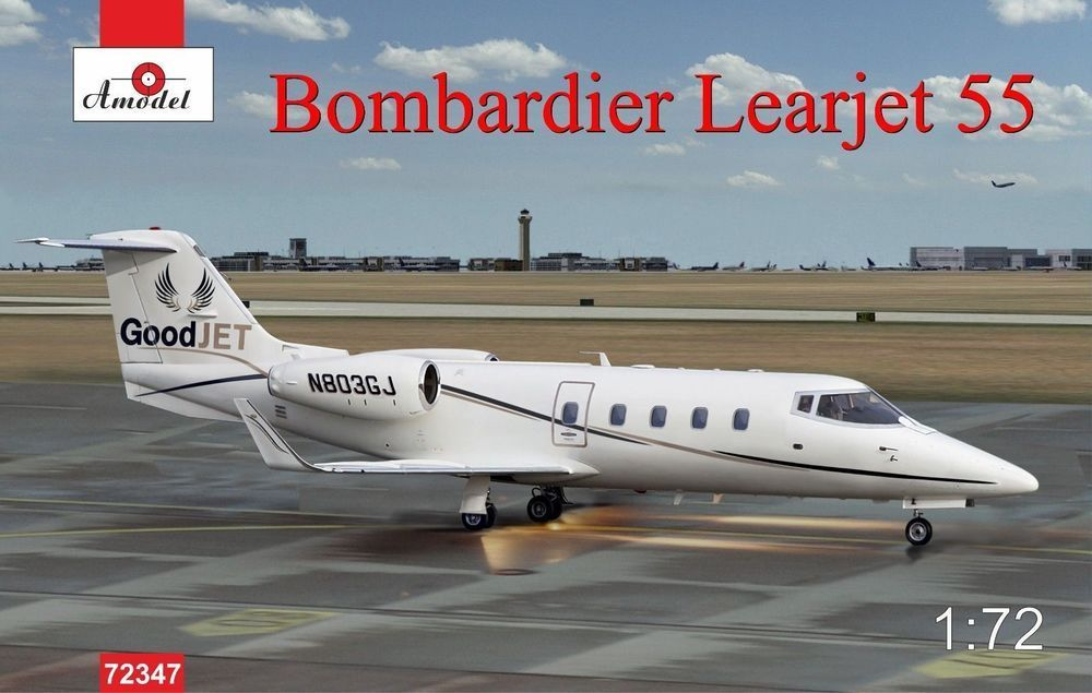 Amodel 1/72 Bombardier Learjet 55 Longhorn business jet airliner