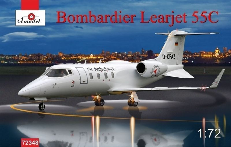 Amodel 1/72 Bombardier Learjet 55C Longhorn business jet airliner