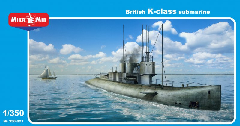 MikroMir 1/350 British K-class steam-propelled submarine