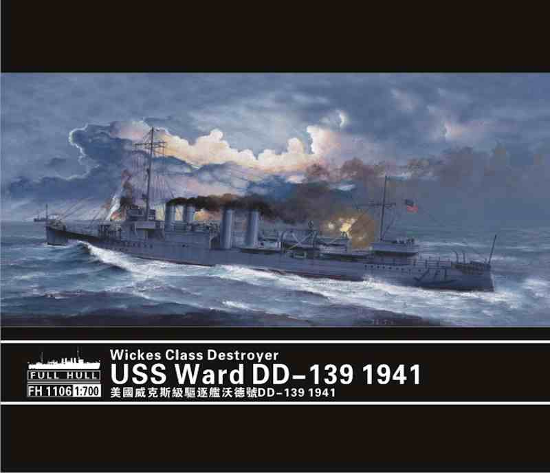 Flyhawk 1/700 USS Ward DD-139,  Wickes-class US WWII destroyer