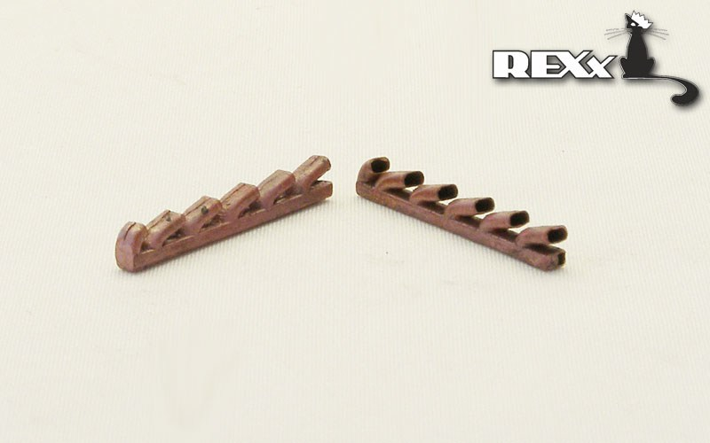 REXX metal exhaust pipes for 1/48 D4Y2 Judy