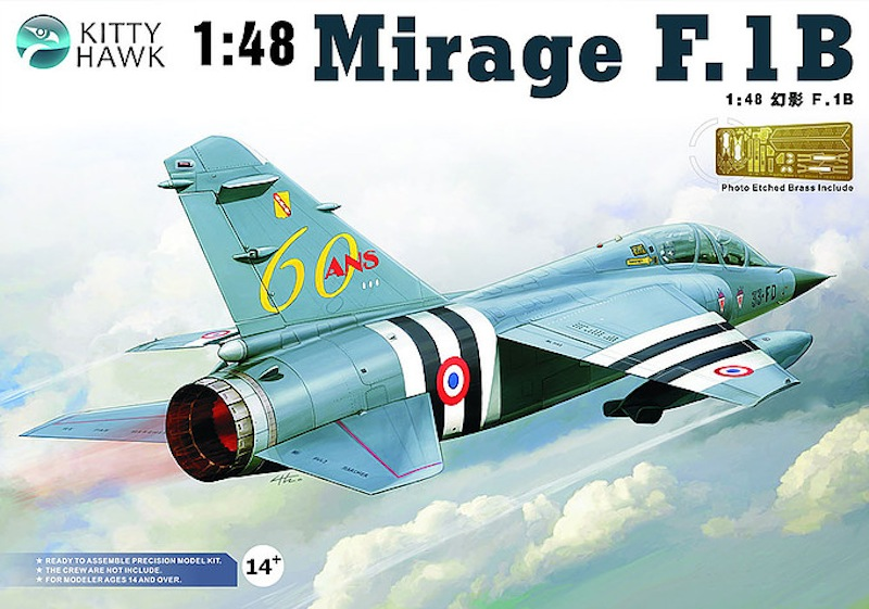 Kittyhawk 1/48 Dassault Mirage F-1B French fighter and attack aircraft