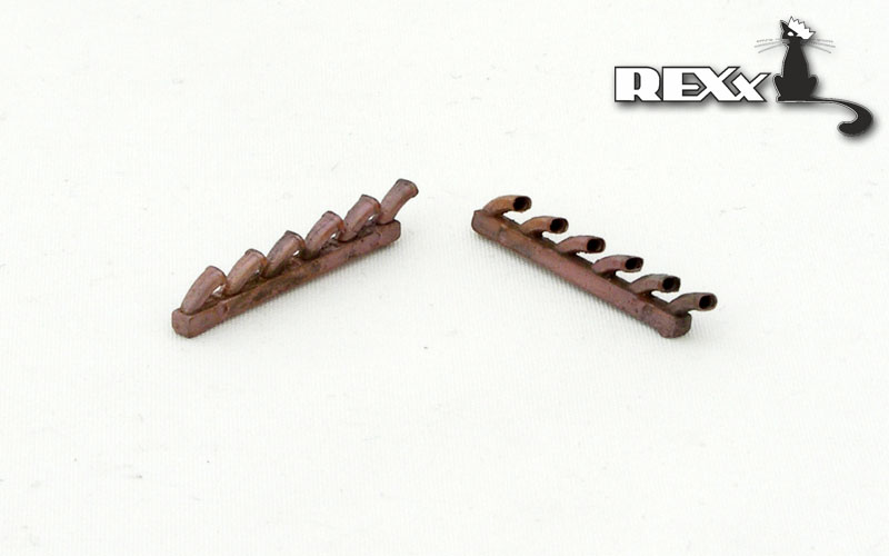 REXX metal exhaust pipes for 1/48 Ju-87B Stuka