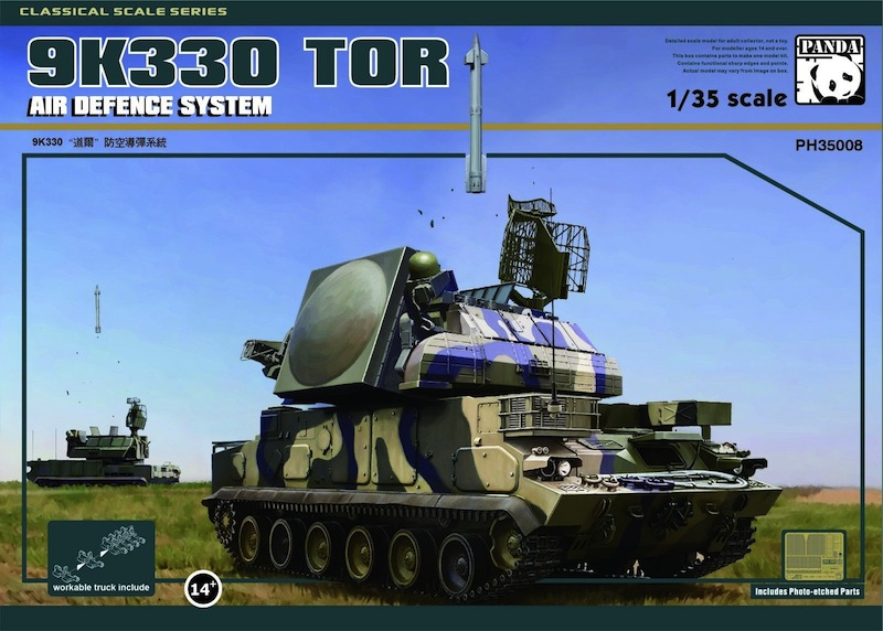 Panda 1/35 9K330 Tor Air Defence System USSR surface-to-air missile system