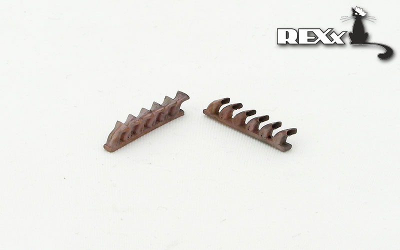 REXX metal exhaust pipes for 1/48 Bell P-39 Airacobra, fishtail