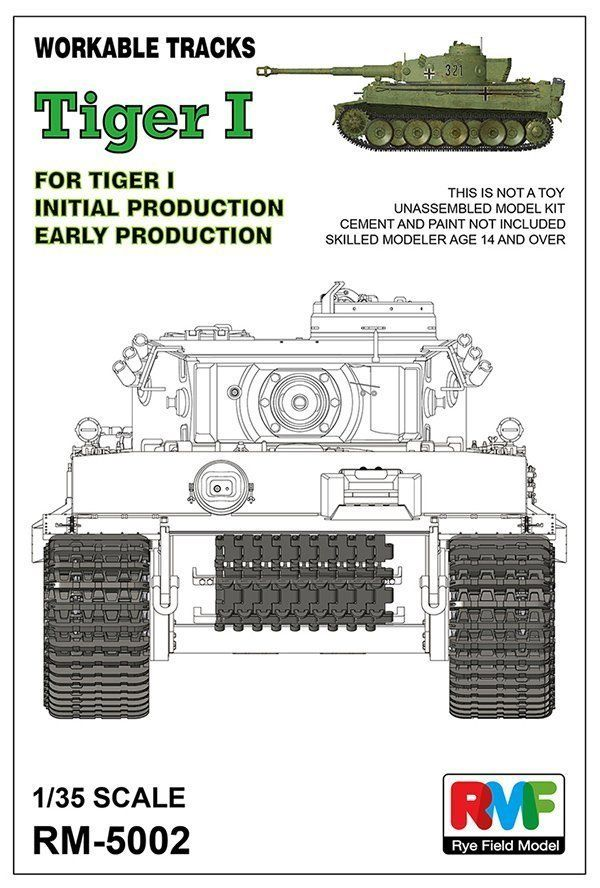 RyeField Model 1/35 Workable Tracks for Tiger I Early Production