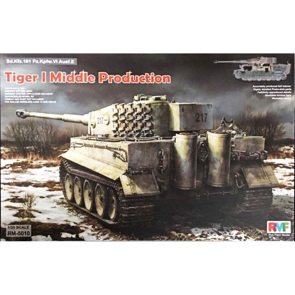 RyeField Model 1/35 Tiger I Middle Production, FULL INTERIOR