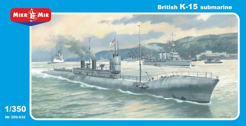 MikroMir 1/350 K-15, British K-class steam-propelled submarine