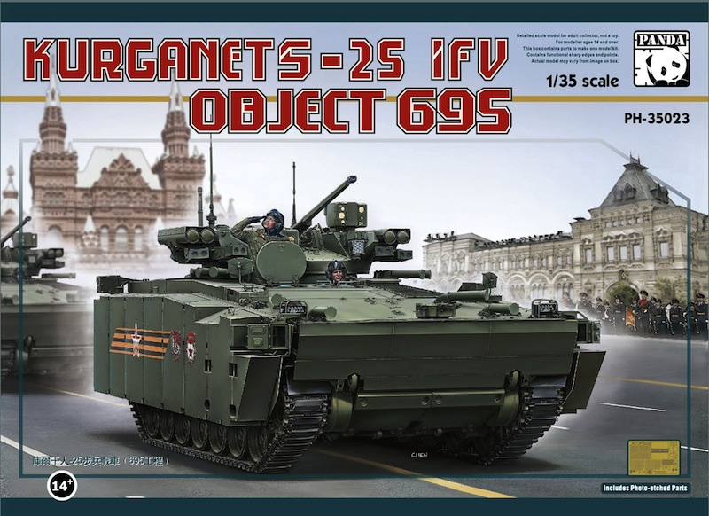 Panda 1/35 Object 695 Kurganets-25 Russian modern armoured fighting vehicle