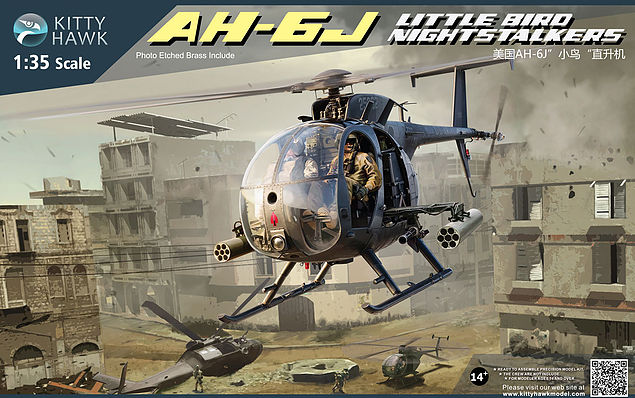 Kittyhawk 1/35 Boeing AH-6 / MH-6 Little Bird light helicopter gunship