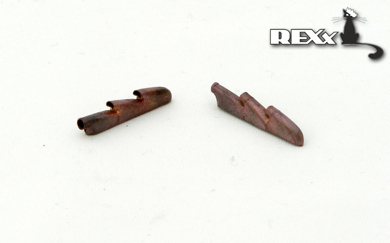 REXX metal exhaust pipes for 1/48 Hurricane Mk.I