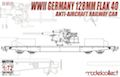 Modelcollect 1/72 WWII German 128mm Flak 40 Anti-Aircraft gun on railway flatcar