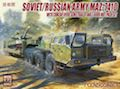 Modelcollect 1/72 Soviet MAZ-7410 with ChMZAP-9990 semi-trailer and T-80BV tank