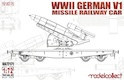 Modelcollect 1/72 WWII Germany WWII V1 rocket on railway flatcar