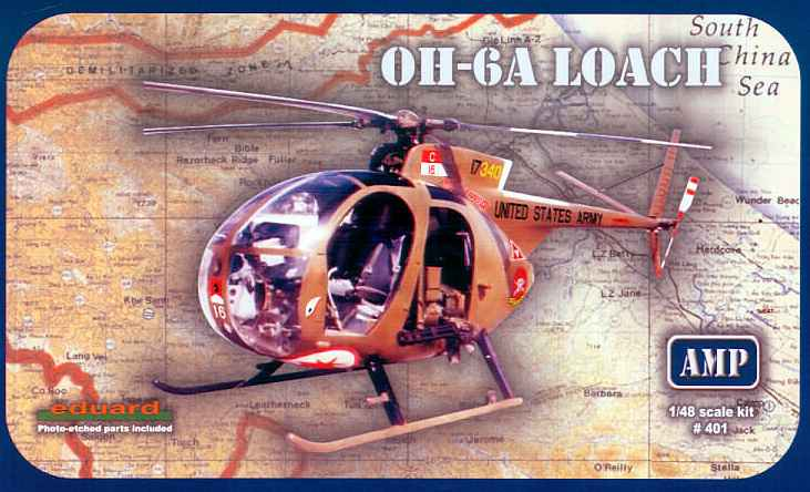 MikroMir 1/48 OH-6A Loach, light attack helicopter