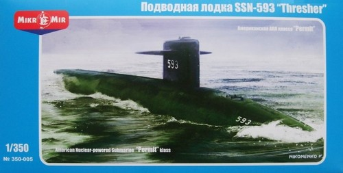 MikroMir 1/350 SSN-593 Thresher, U.S. nuclear submarine